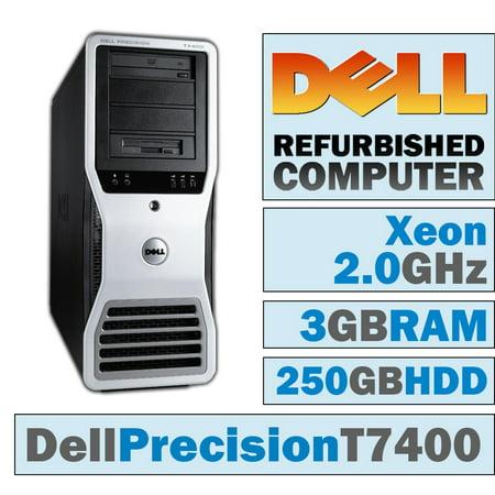 REFURBISHED Dell Precision T7400 TWR/Xeon E5405 @ 2.00 GHz/3GB DDR2/250GB HDD/DVD-RW/No OS Core 2 Duo T7400 Dvd