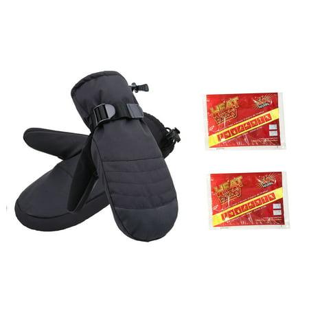 Mens Snowboarding Mittens Waterproof Gloves w/Handwarmrs Pocket,Black,S/M 2010 Mens Snowboard Gloves