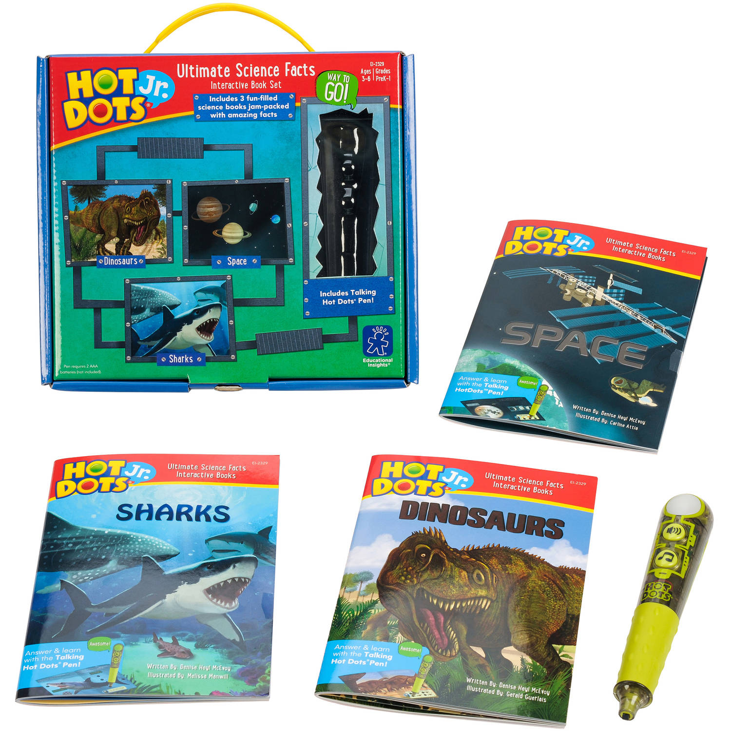 Educational Insights Hot Dots Jr. Ultimate Science Facts Interactive Book Set with Pen
