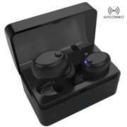 Bluetooth Earbuds Hands- free Headphones True Wireless Stereo Earbuds Earphones Noise Cancelling Sweatproof In-Ear Headset Earpiece with Microphone and Charging case for iPhone Android Smart Phones