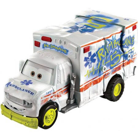 disney pixar cars 3 crunch crash dr damage vehicle. Black Bedroom Furniture Sets. Home Design Ideas