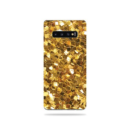 Skin For Samsung Galaxy S10 Plus - Gold Chips   MightySkins Protective, Durable, and Unique Vinyl Decal wrap cover   Easy To Apply, Remove, and Change Styles (Rank Samsung Chips)