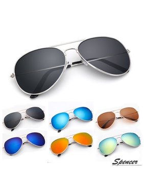 6131a1d23bf Product Image Spencer Retro Aviator Sunglasses Ultralight Driving UV400  Mirrored Outdoor Glasses for Men Women