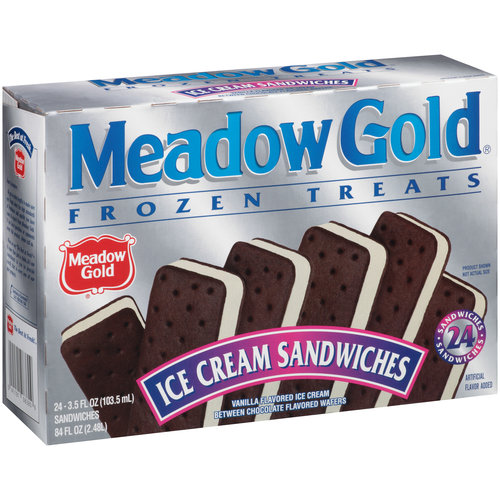 Meadow Gold Ice Cream Sandwiches, 3.5 fl oz, 24 ct