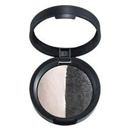 Laura Geller Baked Color Intense Eye Shadow Duo, Marble/Midnight