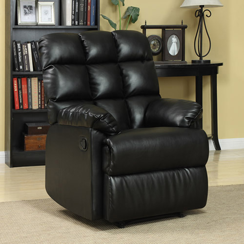 ProLounger Wall Hugger Biscuit Back Renu Leather Recliner Chair, Multiple Colors