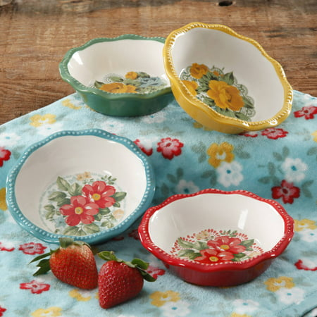 The Pioneer Woman Vintage Floral Mini Pie Plate Set, Set Of 4 by The Pioneer Woman