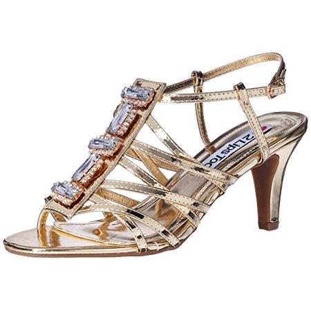 Elle Pumps - 2 Lips Too Women's Too Elle Dress Pump, Gold, 9 M US