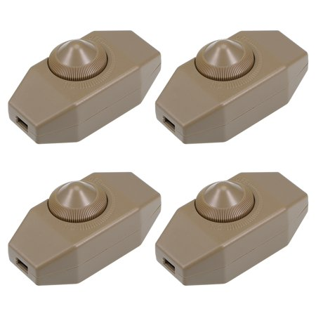 Rotary Cord Switch AC 250V 2A Slide Control Lamp Dimmer 100-Watt Brown 4pcs - image 3 of 3