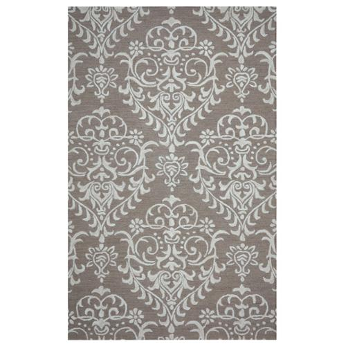 Arden Loft  Hand-tufted Brown Damask Falmouth Fields Collection Wool Area Rug (9' x 12')