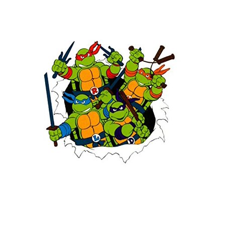 Teenage Mutant Ninja Turtles 90s TMNT Edible Image Photo Sugar Frosting Icing Cake Topper Sheet Birthday Party - 1/4 Sheet - - Turtle Birthday Cake