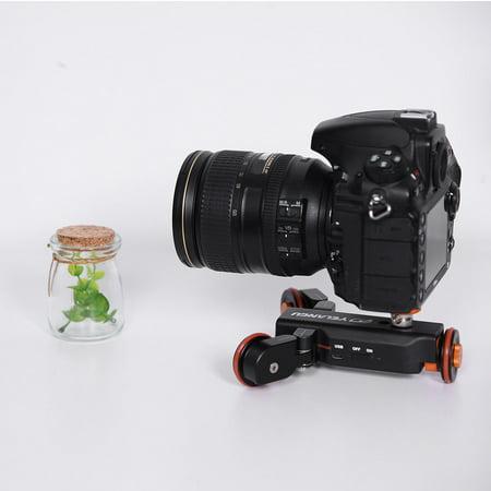 Mini Motorized Video Slider Electric Rolling 3-Wheel Dolly Pulley Car Skater for DSLR Camera Camcorder Smartphone - image 7 de 8