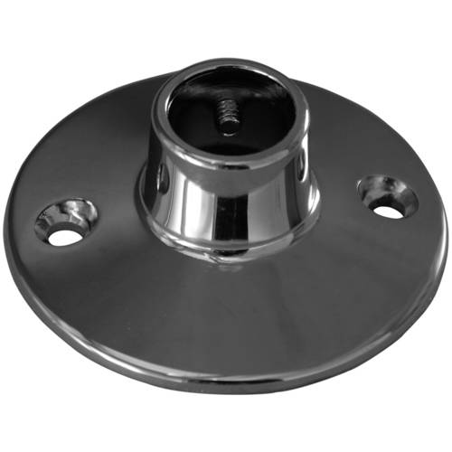 Decor Plumb Shower Rod Flange, Polished Chrome