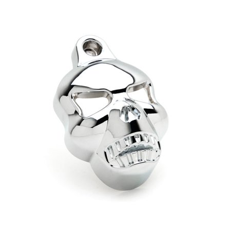 Chrome Skull Head Horn Cover Stock Cowbell Horns For Harley Davidson XL 883 Hugger Sportster - image 2 of 5