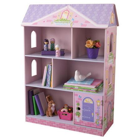 kidkraft dollhouse bookcase kids wood organizer shelves. Black Bedroom Furniture Sets. Home Design Ideas