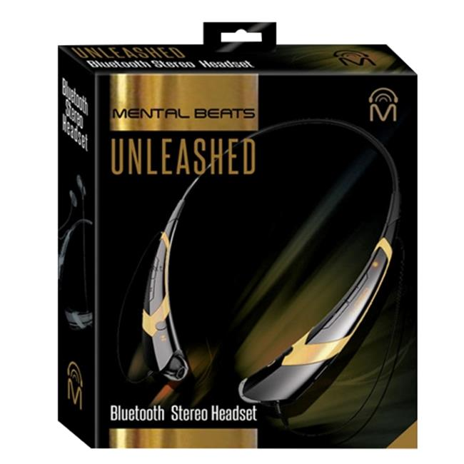 Mental Beats 542 Mental Beats Bluetooth Unleashed Earbuds, Gold