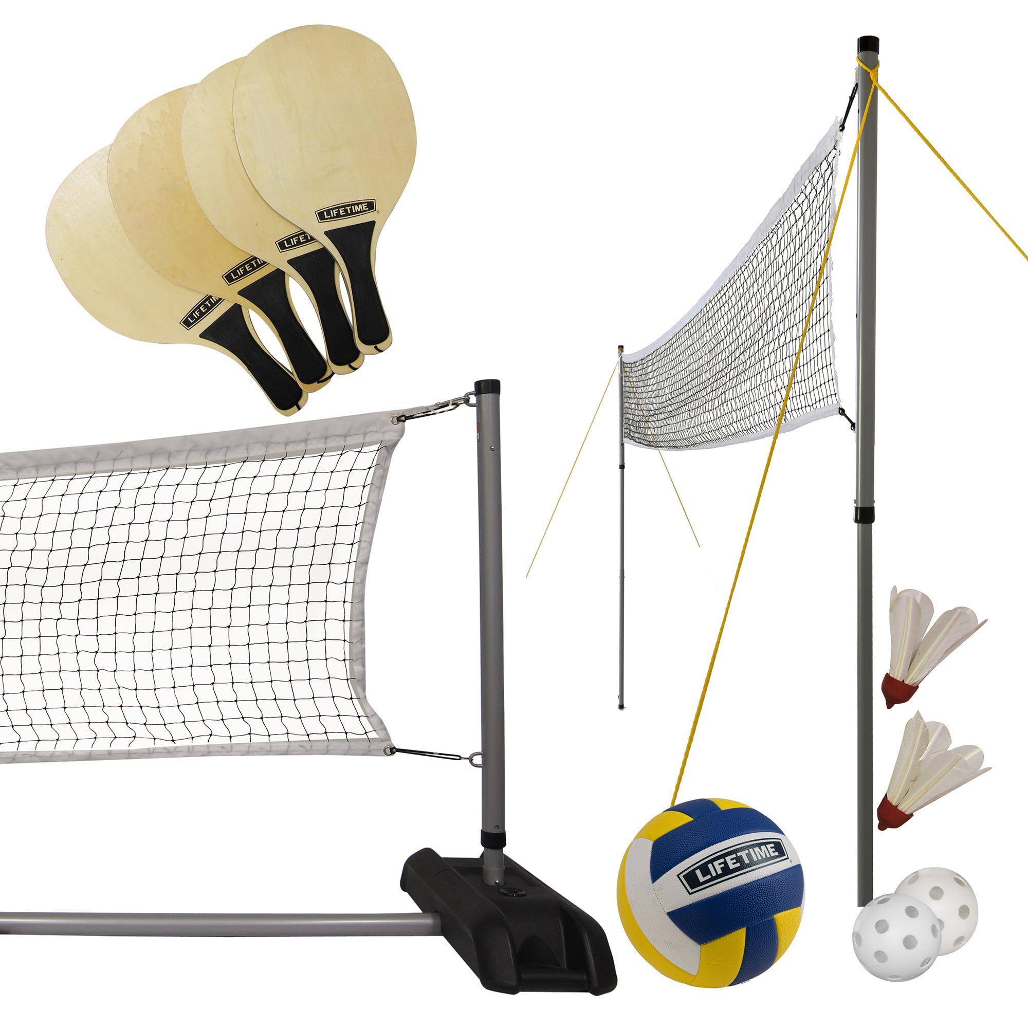 Lifetime Outdoor Games Set With Paddles And Volleyball 90541 Walmart Com Walmart Com