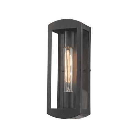 Wall Sconces 1 Light With Blackened Bronze Finish Clear Glass Medium Base 13 inch 60 Watts - World of Lamp (Blackened Steel Finish Wall)