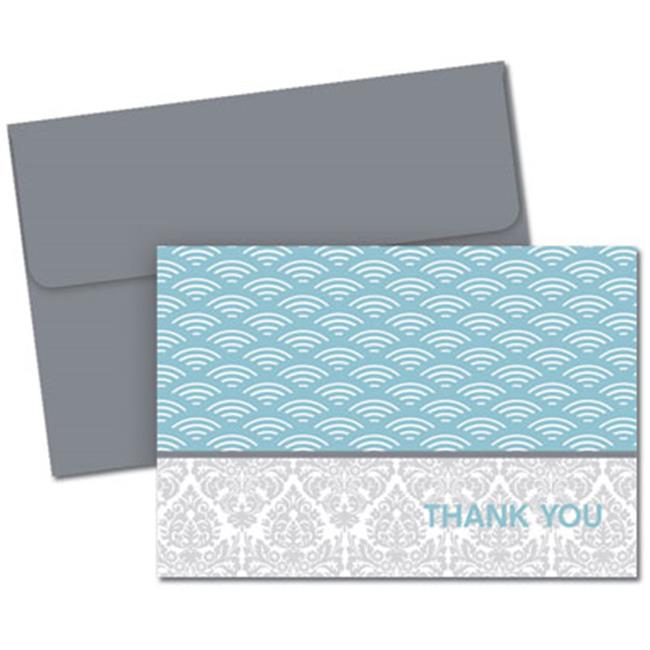 Image Shop 2012144 Fresh Slate Scallops Thank You Note Cards