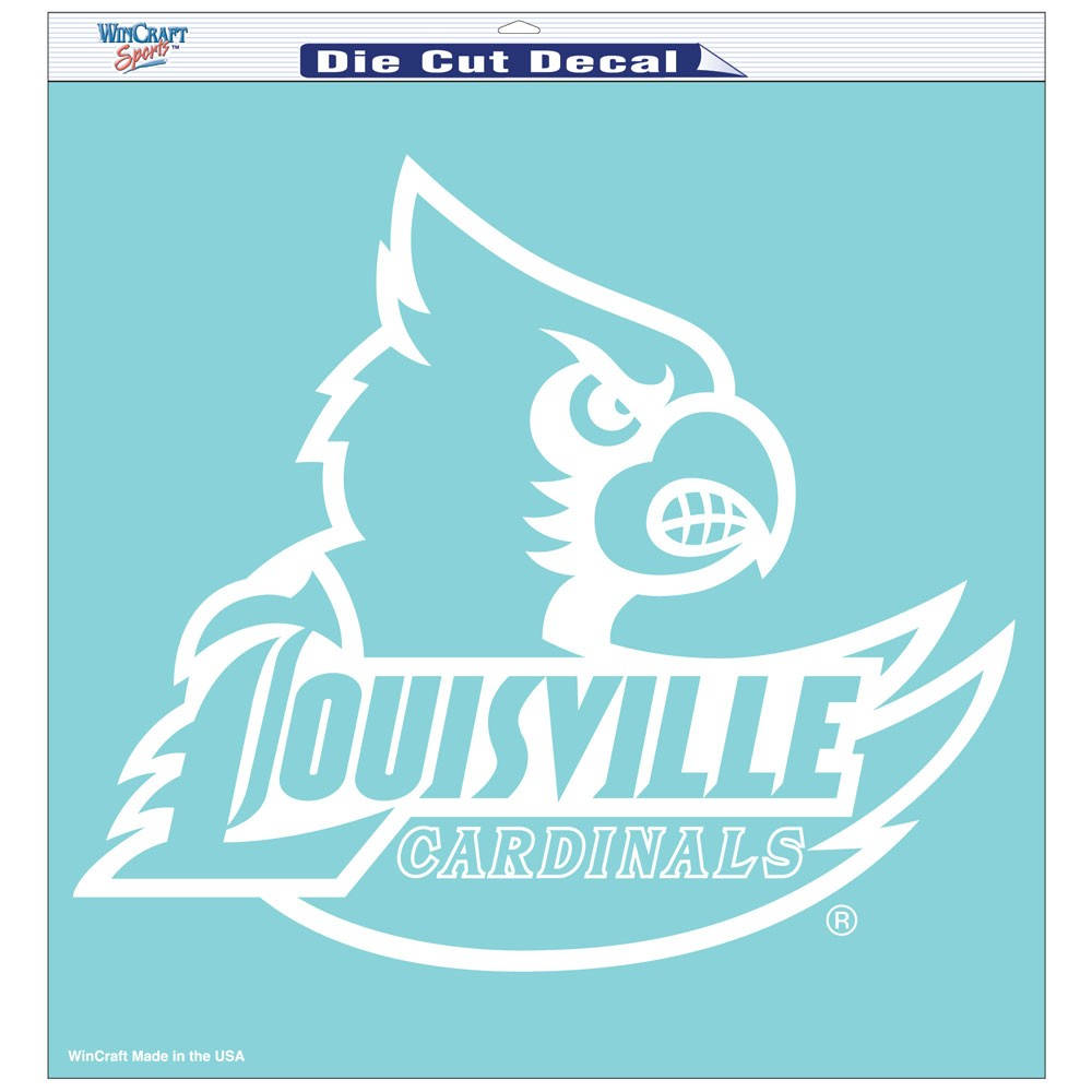 Louisville Cardinals Official NCAA 8 inch x 8 inch  Die Cut Car Decal by Wincraft