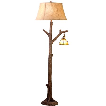 Vintage Direct CFL131211 63.5 in. Tree Floor Lamp with Glass Night Light Vintage Collection Floor Lamp