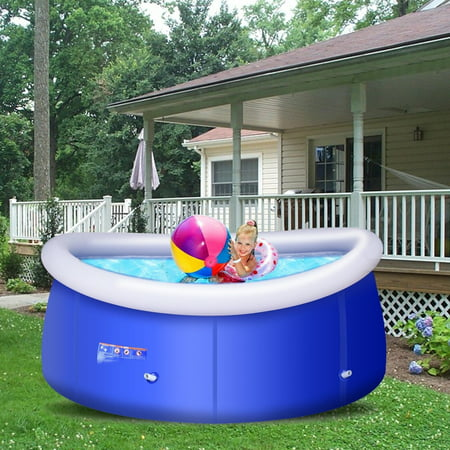 8 ft x 30 inch easy set giant inflatable above ground - 8 foot above ground swimming pools ...