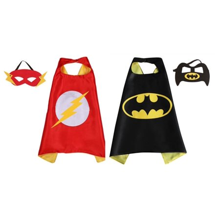 Flash & Batman Costumes - 2 Capes, 2 Masks with Gift Box by Superheroes](Flash Dancer Costume)