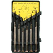 Precision Screwdriver Set In Plastic Case With 6 Screwdrivers
