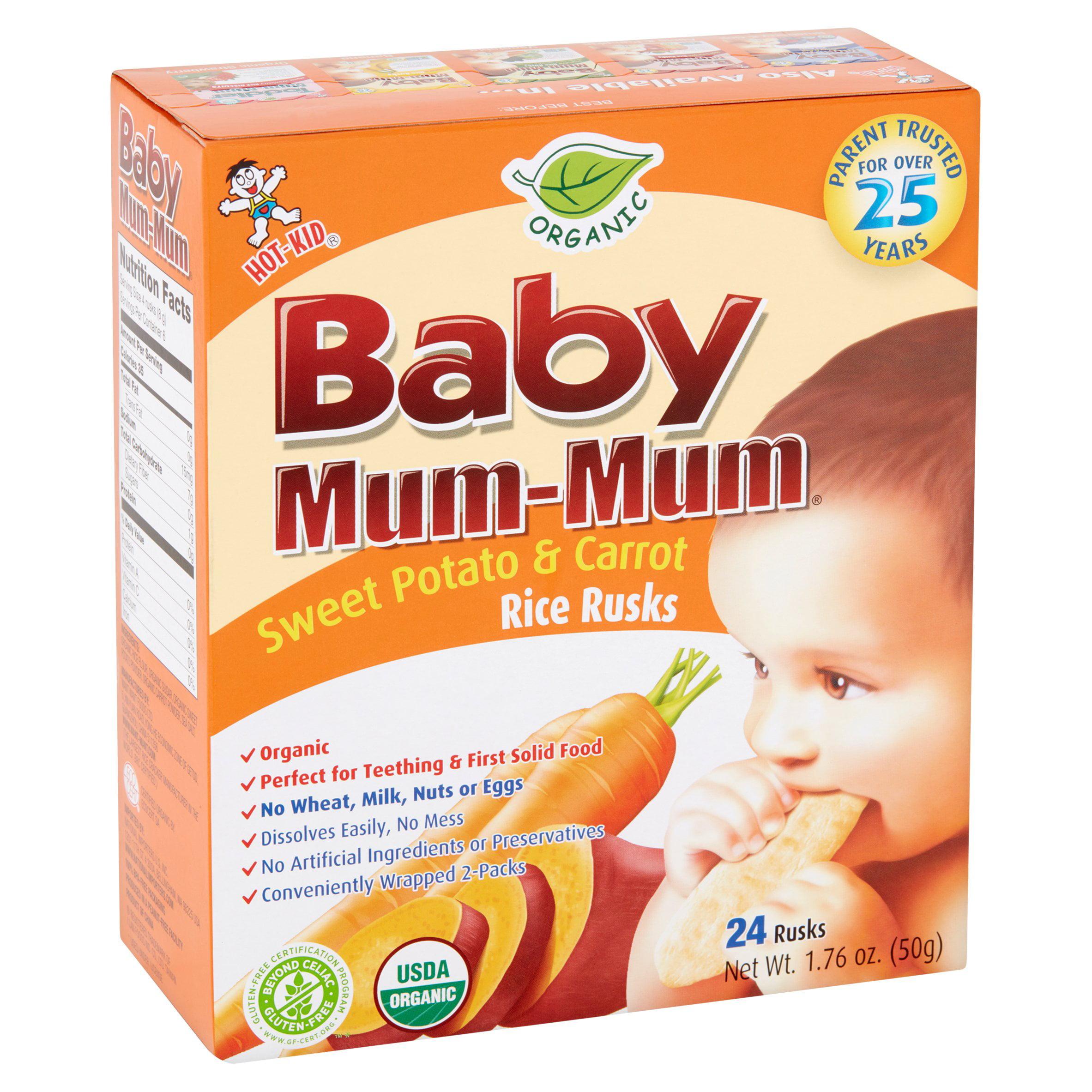 3 Pack Hot Kid Baby Mum Mum Organic Sweet Potato