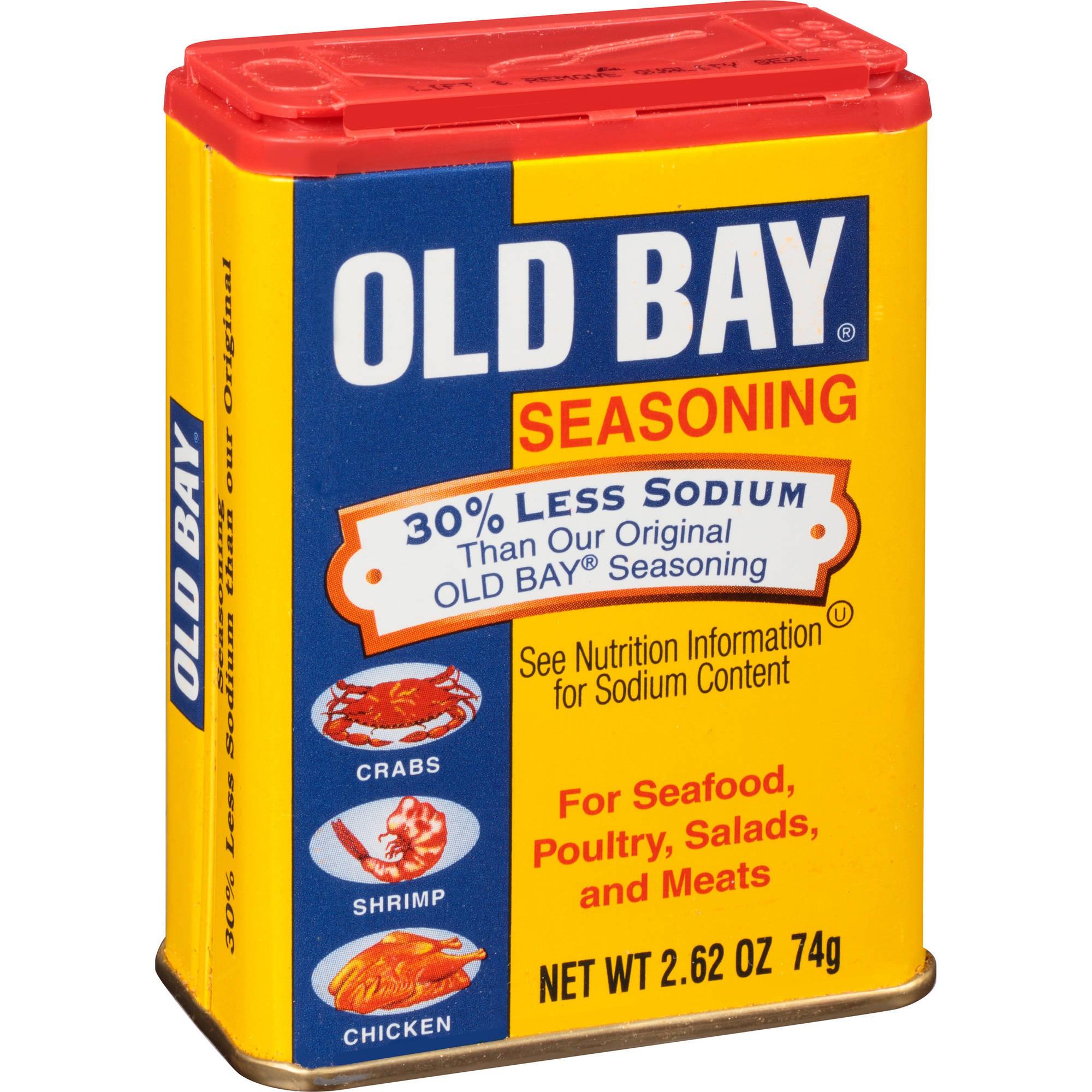 Old Bay 30% Less Sodium Seasoning, 2.62 oz