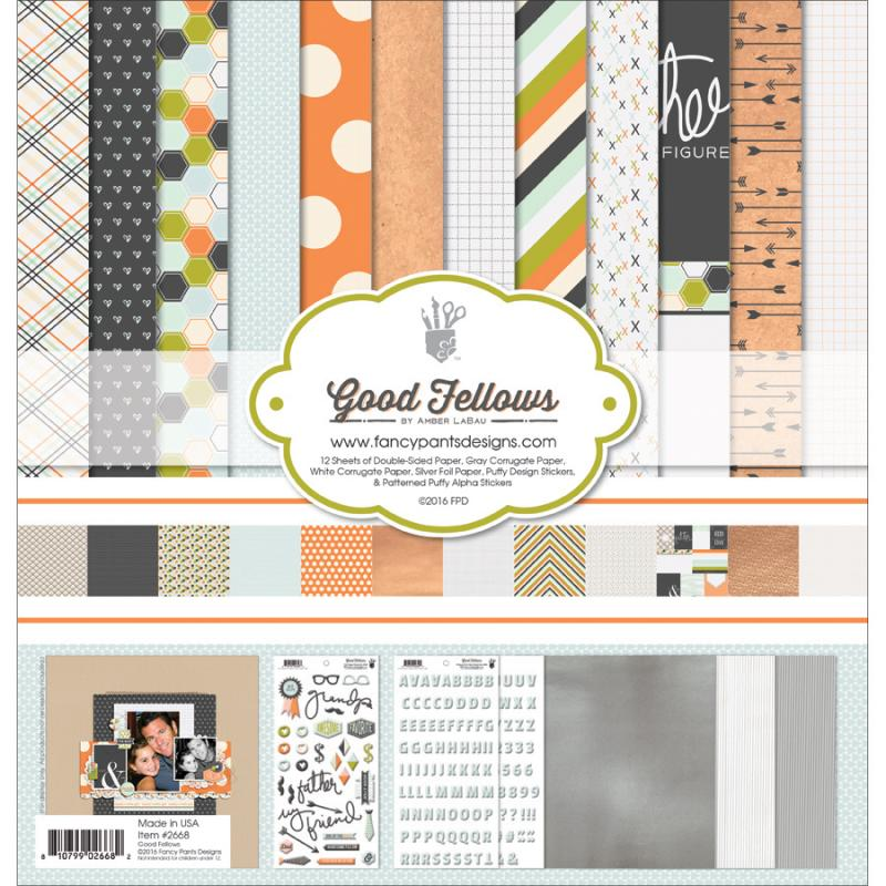"Fancy Pants Designs Collection Kit, 12"" x 12"", Good Fellows"