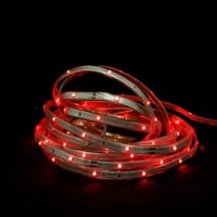 18' Red LED Indoor/Outdoor Christmas Linear Tape Lighting - White Finish