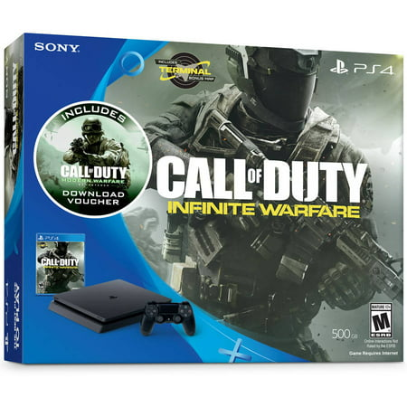 Playstation 4 Slim 500Gb System With Call Of Duty  Infinite Warfare