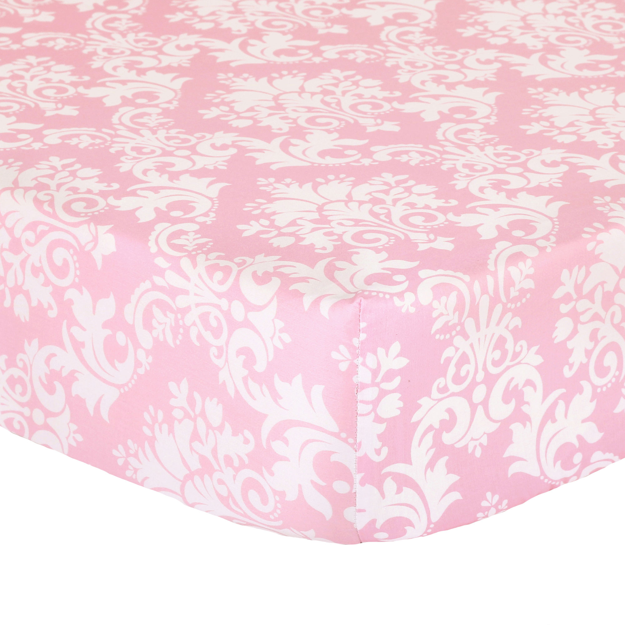 The Peanut Shell Baby Crib Fitted Sheet Pink Floral