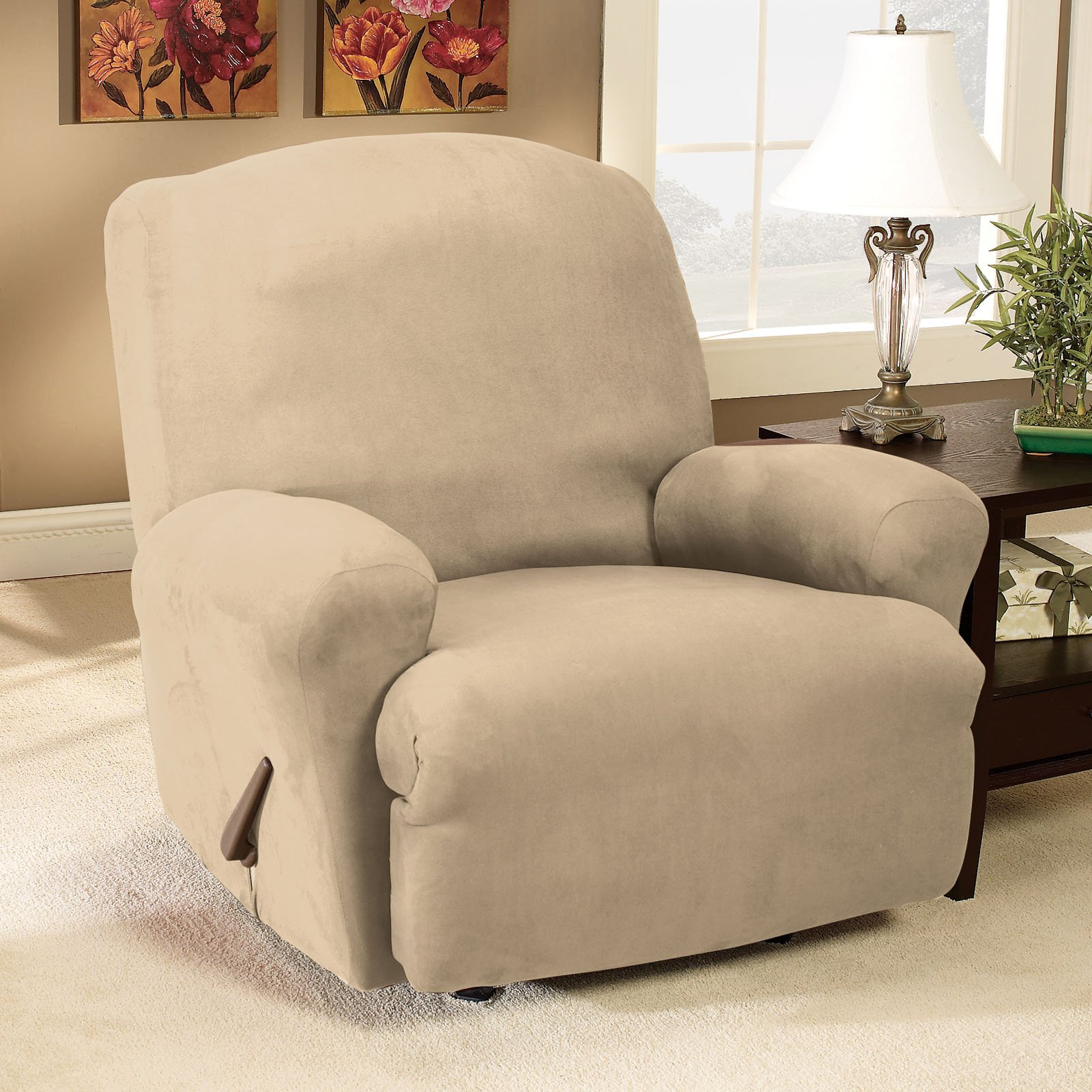Sure Fit Suede Recliner Stretchable Slipcover