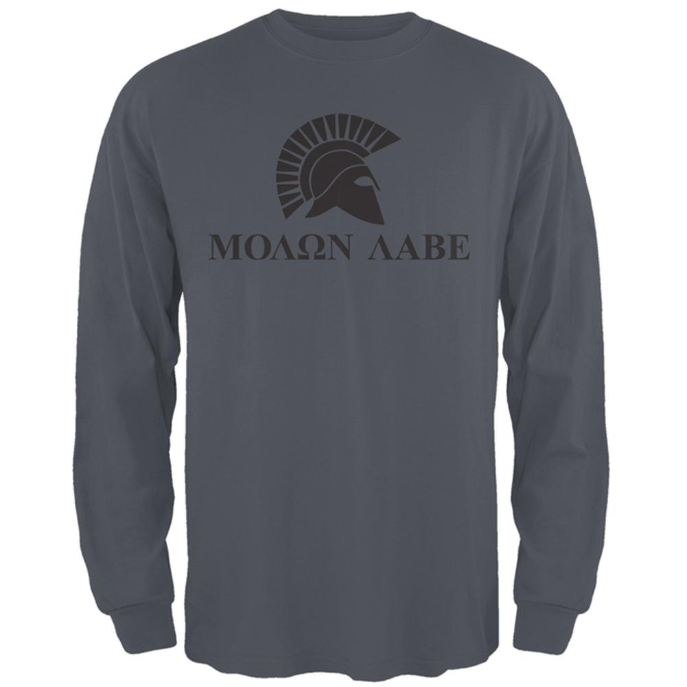 Molon Labe Helmet Mens Long Sleeve T Shirt