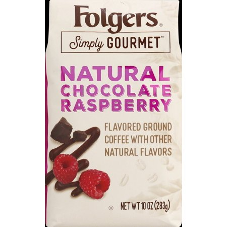 - Folgers Simply Gourmet Natural Chocolate Raspberry Ground Coffee, 10 Ounces