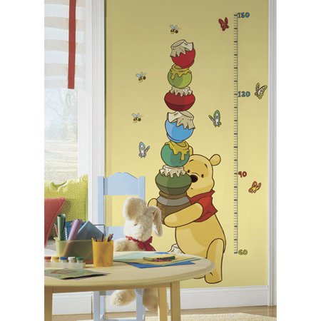 Roommates winnie the pooh and friends peel and stick for Baby pooh and friends wall mural