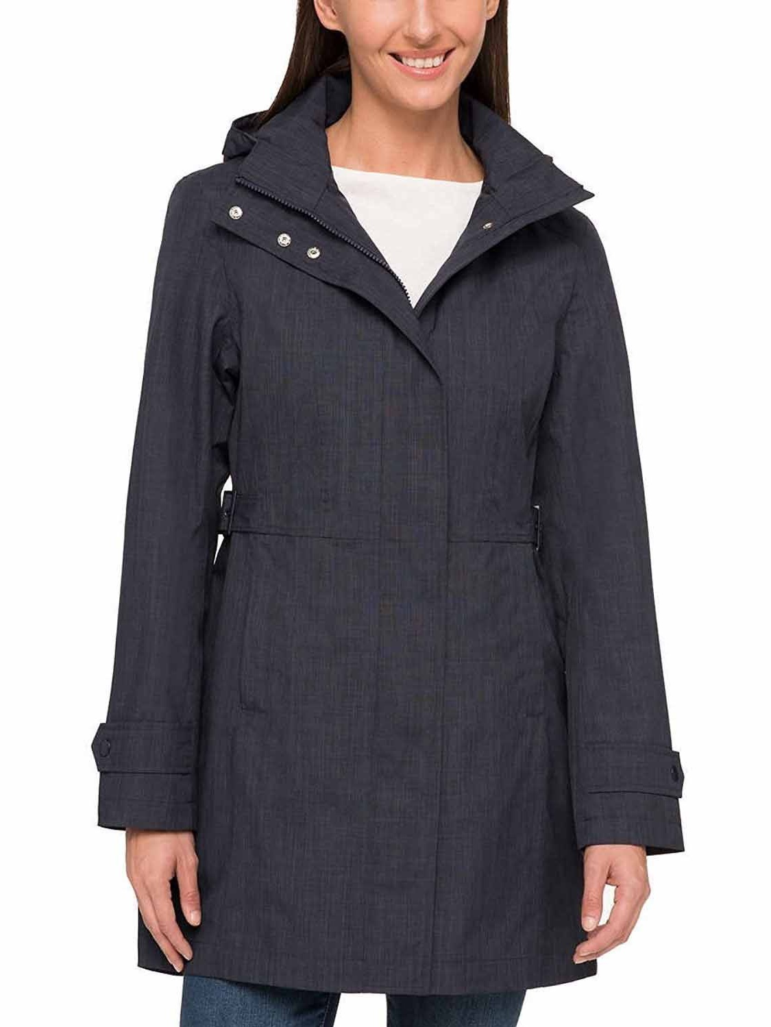 fe7b3513e Kirkland Signature Womens Waterproof Trench Coat (Navy, Small)