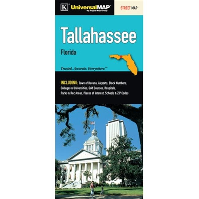 Map Of Tallahassee Florida.Universal Map 11192 Tallahassee Fl Fold Map
