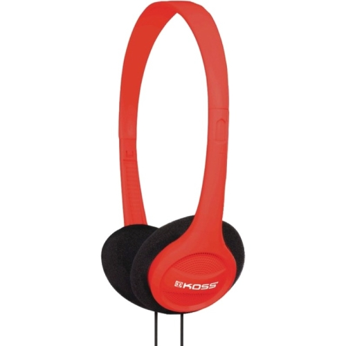 Koss KPH7R Koss KPH7 On-Ear Headphones - Stereo - Red - Wired - 32 Ohm - 80 Hz 18 kHz - Over-the-head - Binaural - Supra-aural - 4 ft Cable
