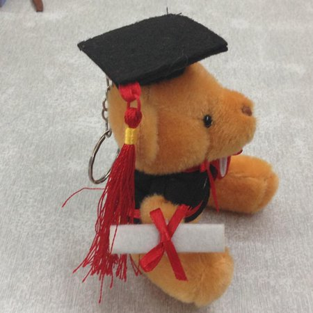 Cotton Teddies - AkoaDa 1Pcs 6cm 12cm pp cotton kid toys plush doll mini small graduation teddy bear flower bouquets bear Dr. bear  graduation gifts
