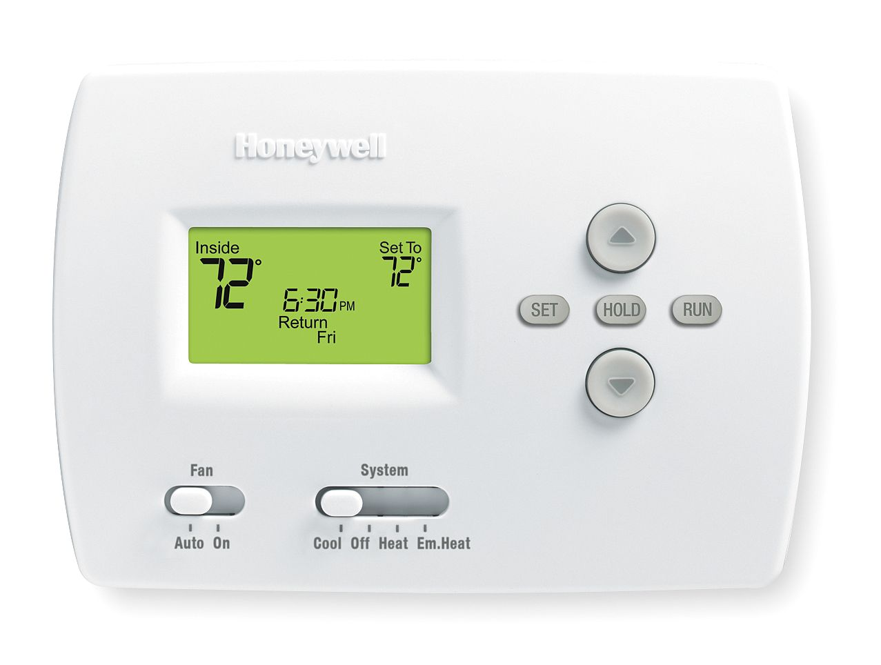 Honeywell Low Voltage Thermostat, Stages Cool 1, Stages Heat 2 White TH4210D1005 by Honeywell