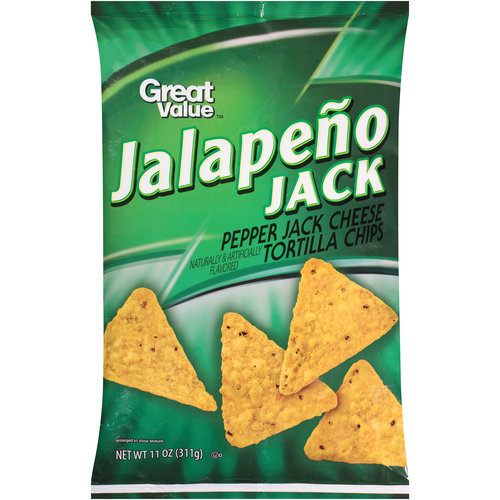 Great Value Jalapeno Jack Tortilla Chips, 11 oz
