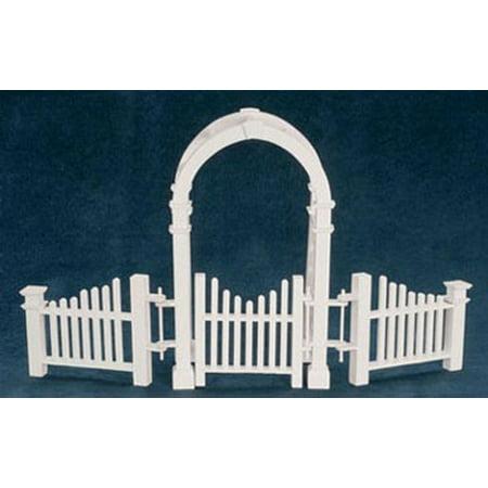 Dollhouse Arbor W/ Gate And Fence (Dollhouse Fence)