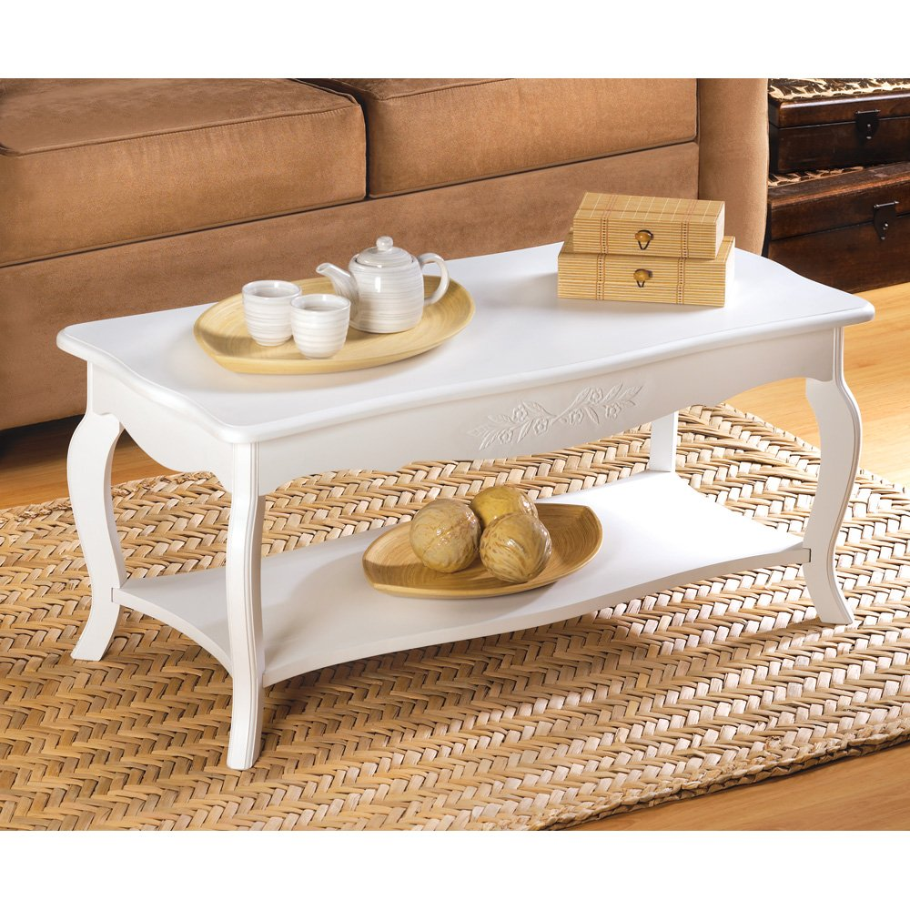Wood Coffee Table, White Modern Coffee Tables Living Room - Contemporary Design