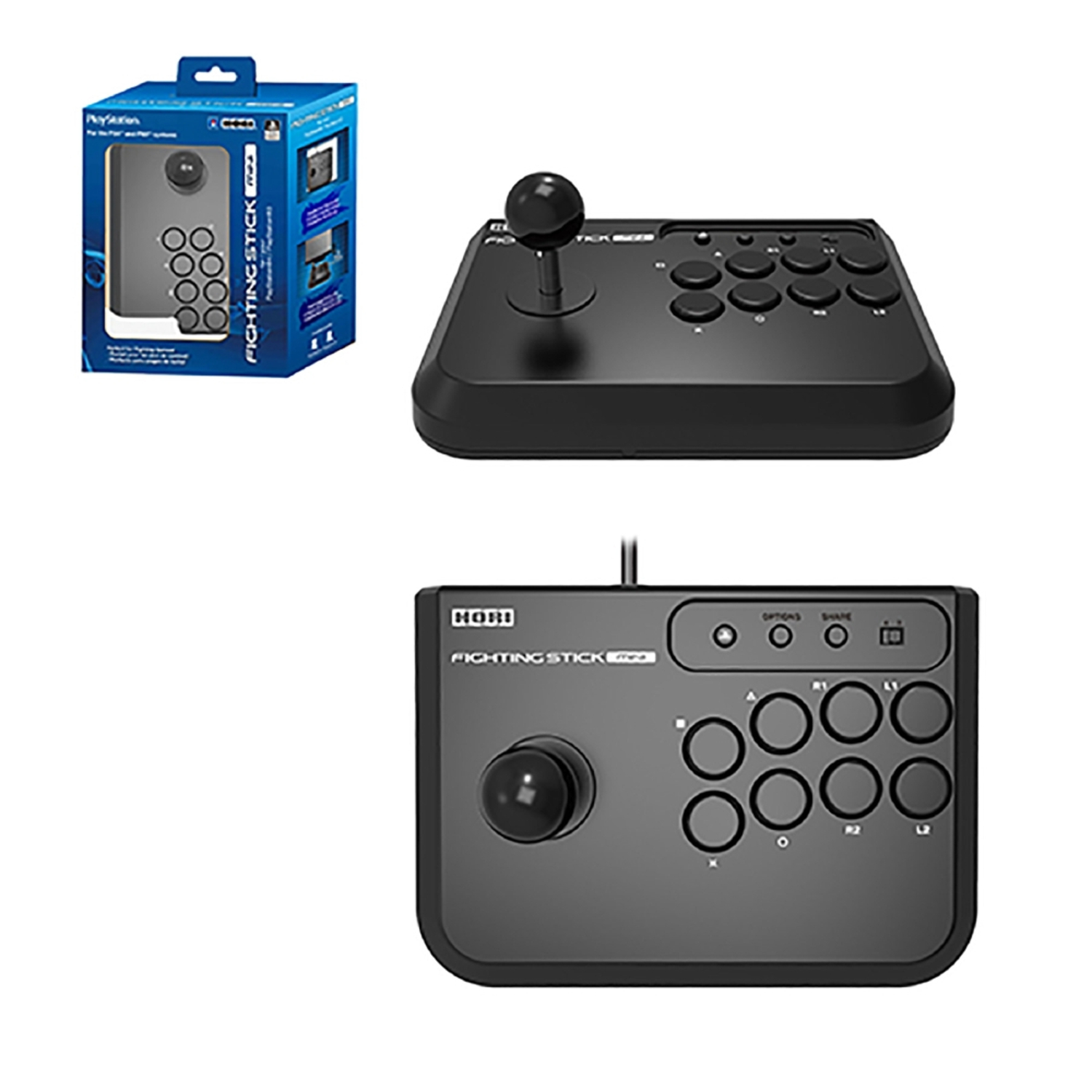 HORI FIGHTING STICK ARCADE PLAYSTATION CONTROLLER FOR PS3 PS4 VIDEO GAME MINI 4