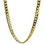 BIG Jewelry Co Gold Ion-plated Stainless Steel 10-mm Curb Chain Jewelry Set