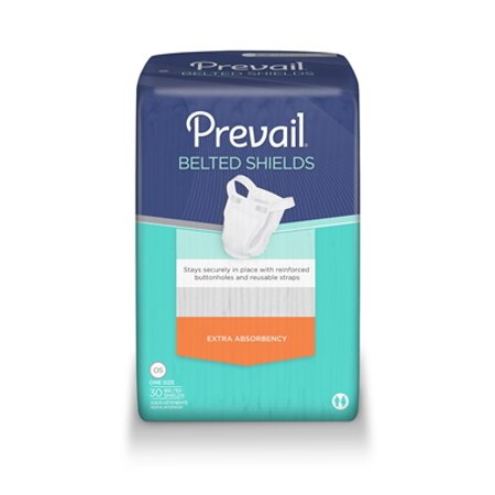 Prevail Belted Undergarment Shields, Heavy Absorbency, PV-324 - Case of 120