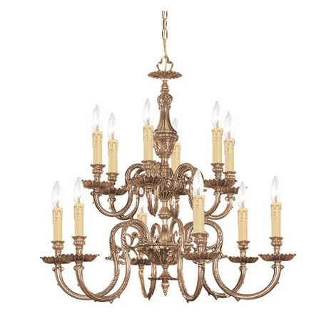 Chandeliers 6 Light With Olde Brass Cast 26 inch 360 Watts - World of Lighting